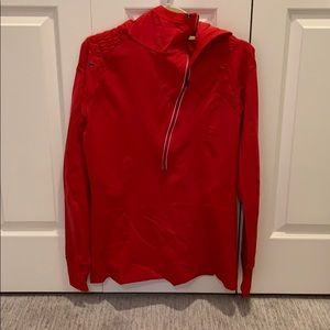 Red Lululemon Pullover Sweatshirt